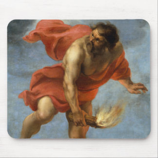 Prometheus Carrying Fire Mouse Pad