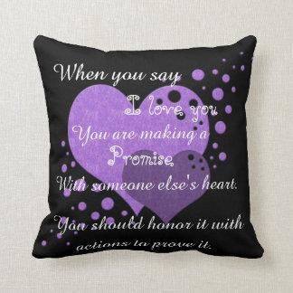 Promise i love you cushion