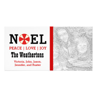 PROMO4 Holiday Photo NOEL Peace Love Joy Card P40 Photo Cards