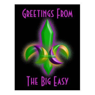 Promo Postcard Glowing Fleur-de-lis New Orleans LA