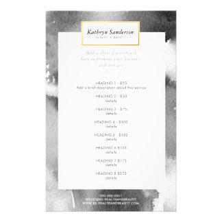 PROMO PRICE SERVICE LIST modern grey watercolor Flyer