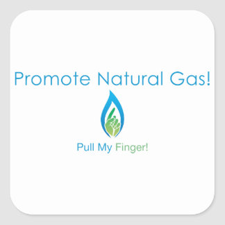Promote Natural Gas Square Sticker