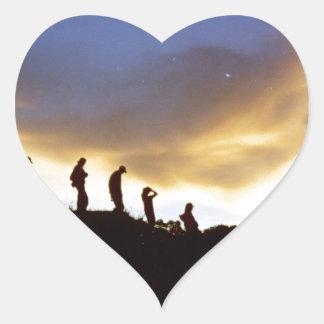 Promote rural tourism heart sticker