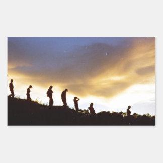 Promote rural tourism rectangular sticker