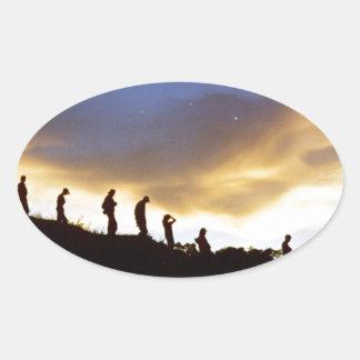 Promote rural tourism oval sticker