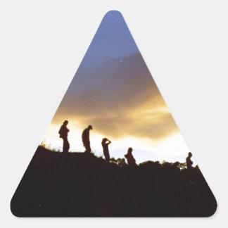 Promote rural tourism triangle sticker