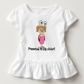 Promoted to big sister girl ladybug ruffle t-shirt