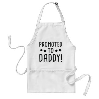 Promoted To Daddy! Standard Apron