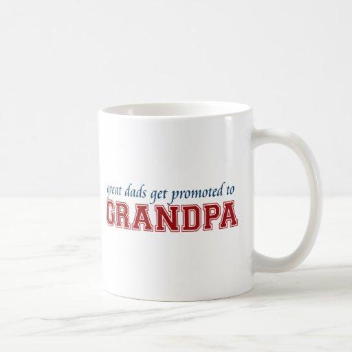 Promoted to Grandpa Coffee Mugs