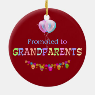 Promoted to Grandparents, celebration Ceramic Ornament