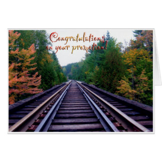 Promotion congratulations! card