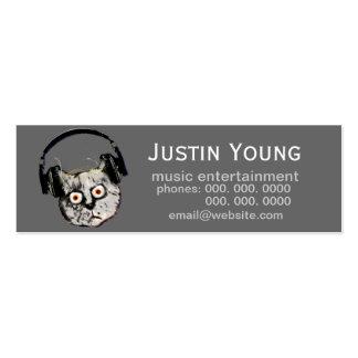 promotional dj / electronic music business card templates