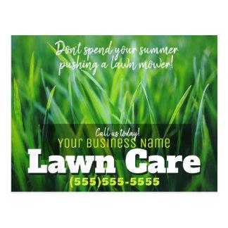 Promotional Lawn Care Post Card. Landscaper Postcard