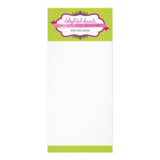 PROMOTIONAL MARKETING CARD logo stylish pink lime Custom Rack Card