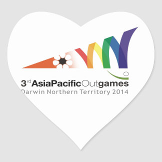 Promotional Material 3rd Asia Pacific Outgames Heart Stickers