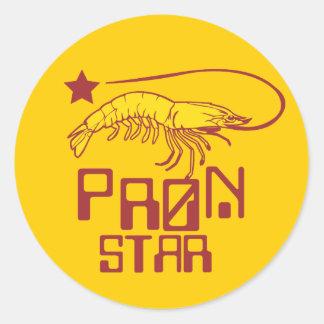 Pron Star Round Sticker