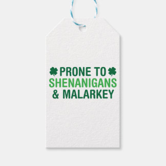 Prone to Shenanigans Gift Tags