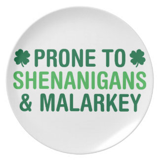 Prone to Shenanigans Plate