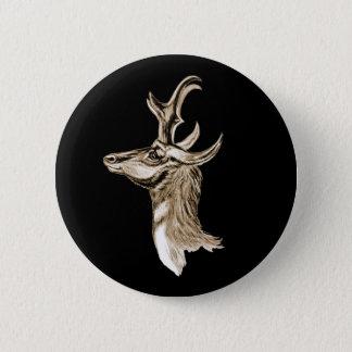 Pronghorn 6 Cm Round Badge