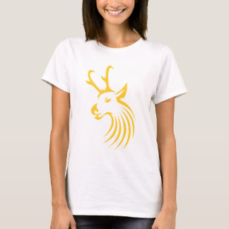 Pronghorn Antelope in Swish Drawing Style T-Shirt