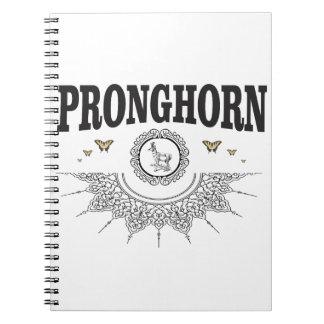 pronghorn butterfly art notebook