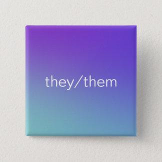 pronouns 15 cm square badge