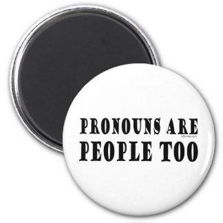 Pronouns 6 Cm Round Magnet