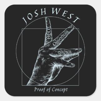 Proof of Concept White Logo Square Sticker