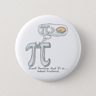 Proof that Pi is Irrational 6 Cm Round Badge