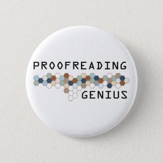 Proofreading Genius 6 Cm Round Badge