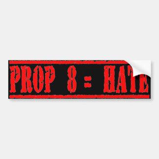 Prop 8 equals Hate Bumper Sticker