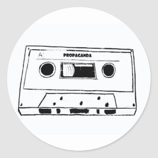 prop tape round sticker