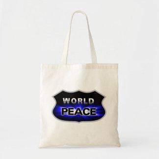 Propagating World Peace Designs Budget Tote Tote Bag