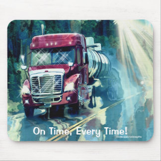 Propane Delivery Truck Transport Art Mousepad