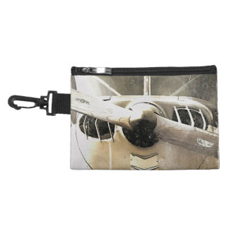 Propeller Antique Airplane Clip On Accessory Bag