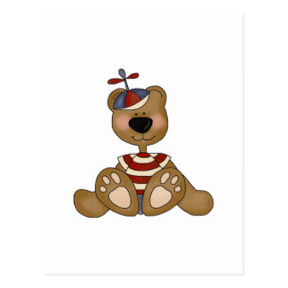 Propeller Hat Boy Bear Tshirts and Gifts Postcard