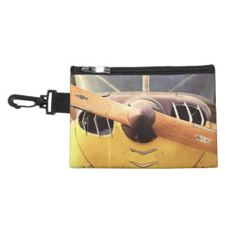 Propeller Yellow Antique Airplane Clip On Accessory Bag