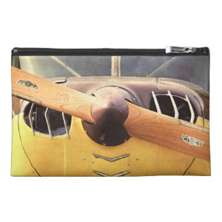 Propeller Yellow Antique Airplane Travel Travel Accessory Bag