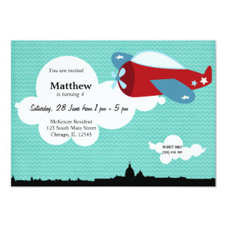 Propellor Plane Birthday theme (Blue) Card