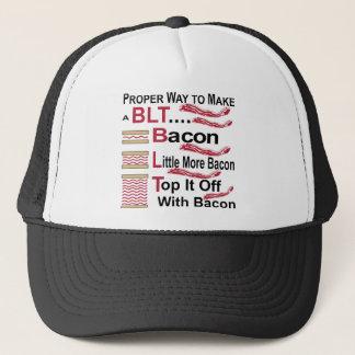 Proper Way To Make A BLT Bacon Lettuce Sammich Trucker Hat