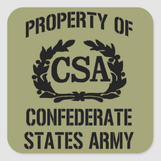 Property Confederate States Army Sticker