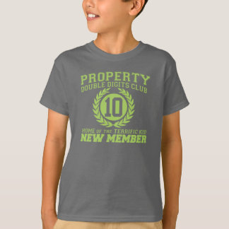 PROPERTY Double DIGITS Club New MEMBER 10th B'day T-Shirt