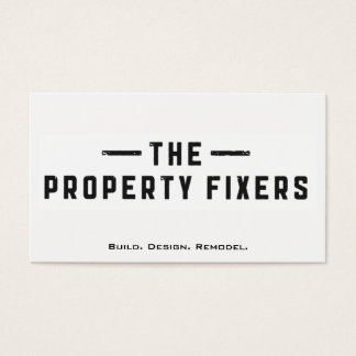 Property Fixers White Business Card