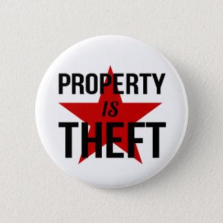 Property is Theft - Anarchist Socialist Communist 6 Cm Round Badge