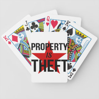 Property is Theft - Anarchist Socialist Communist Bicycle Playing Cards