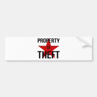 Property is Theft - Anarchist Socialist Communist Bumper Sticker