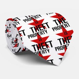 Property is Theft - Anarchist Socialist Communist Tie