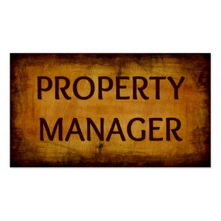 Property Manager Business Card