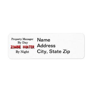 Property Manager/Zombie Hunter Return Address Label