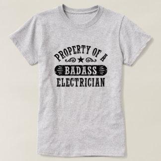 Property of a Badass Electrician Tshirt